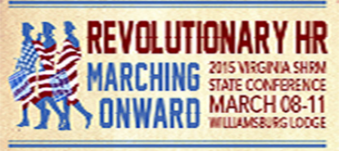 Virginia SHRM State Conference - Blue And Red Revolutionary War Graphic