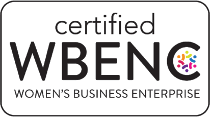WBENC Logo - black sans-serif type inside black outlined rectangle with round corners
