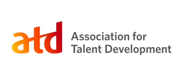 ATD Logo - Lowercase atd with yellow to red gradient inside and dark gray sans-serif type to right