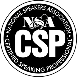 CSP Logo - Black circle with white sans-serif type inside