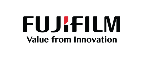 Fujifilm Logo - Black sans-serif type with red accent on letter i