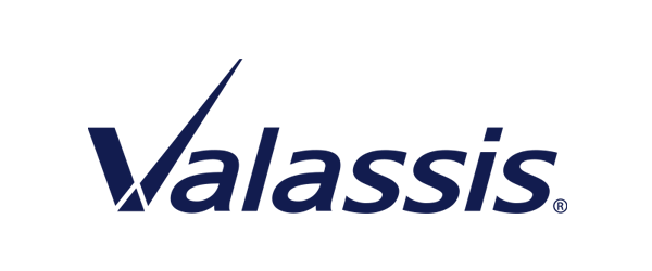 Valassis Logo - Dark blue sans-serif type with high accent on letter V