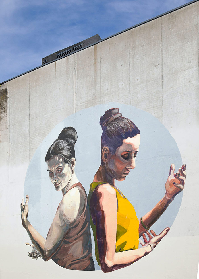 Wall mural of two women