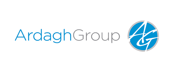 Ardagh Group Logo - Blue and gray sans-serif type with circular AG icon to right