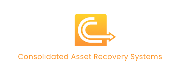 Consolidated Asset Recovery Systems Logo - Orange sans-serif type with C icon above