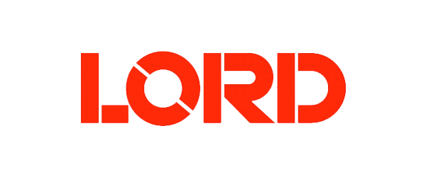 Lord Corporation Logo - Red stencil sans-serif type