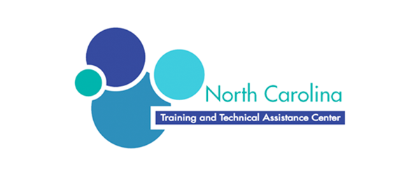 NCTTAC Logo - Teal and shite sans-serif type with blue circles to left