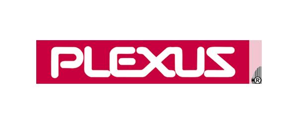 Plexus Logo - White sans-serif type inside red rectangle
